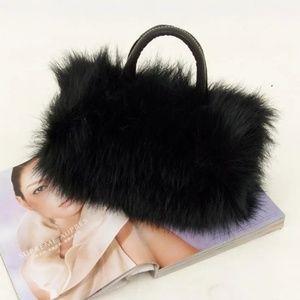 Handbags - Faux Fur Fashion Versatile Strap Purse